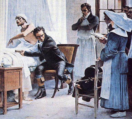"""""""A L'Hopital Necker Ausculte Un Phtisique"""" Théobald Chartran (1849-1907)"""
