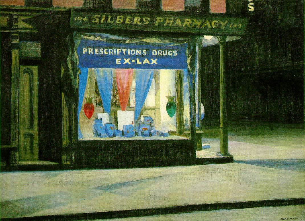 """Drug Store"" Edward Hopper (1927)"
