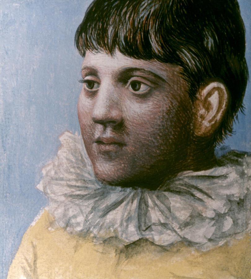 """""""Portrait d'adolescent en Pierrot"""" Picasso 1922"""