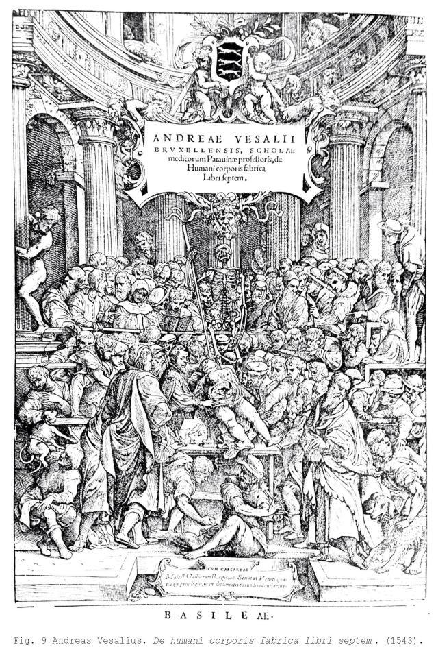 Fig. 9 Andreas Vesalius. De humani corporis fabrica libri septem . (1543).